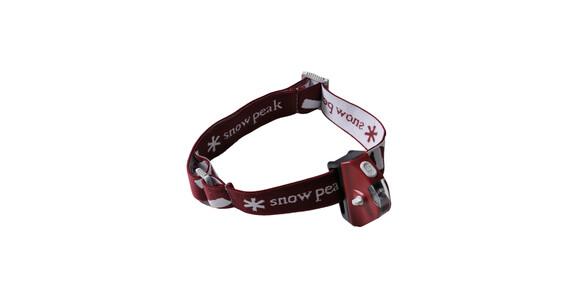 Snow Peak Mola - Lampe frontale - rouge